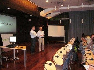 Vicente y Marek en la inauguración del Campus