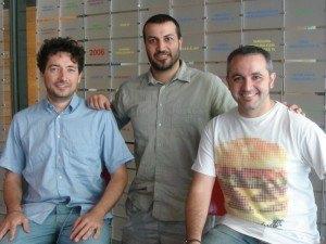 Nico Bour, Albert López y Albert García, cofundadores de Uvinum