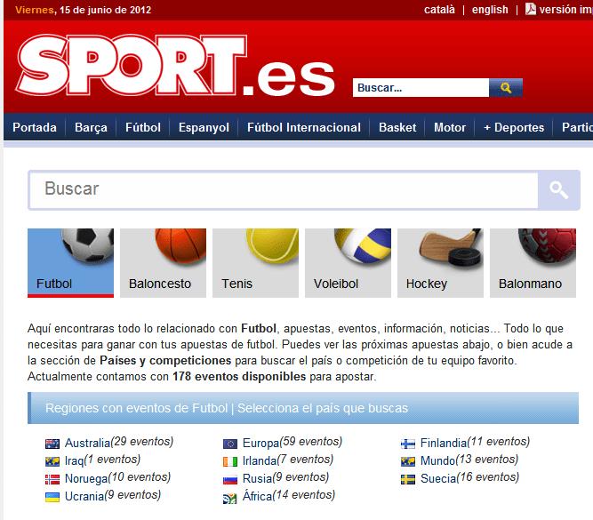 El Comparador de Apuestas de Sport