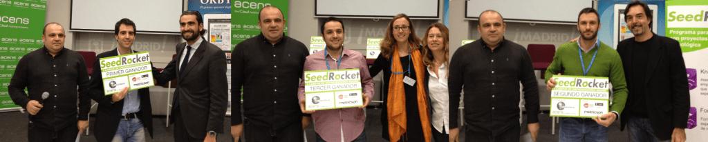 Startups Ganadoras: Reclamador, Lamasmona y Swapay.