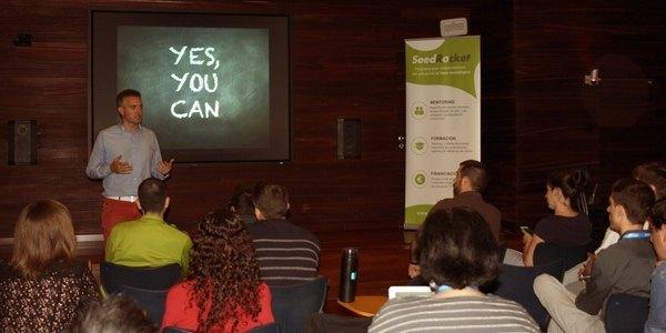 Eneko Knörr durante su intervención en el XV Campus de Emprendedores (Barcelona)