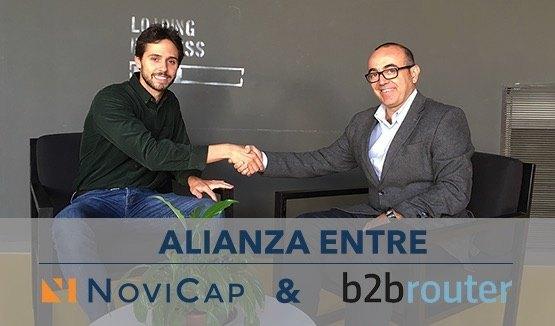 Alianza de NoviCap y B2BRouter: Financiar facturas en un solo click