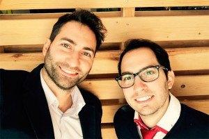 Francisco J. Martínez (izquierda de la foto) y Pablo A. Martínez (derecha de la foto)