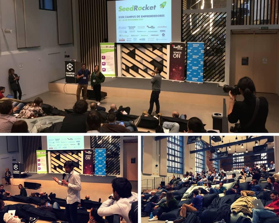 Iñaki Arrola dando feedback a los proyectos en el XVIII Campus de Emprendedores