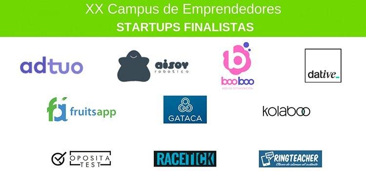 Startups finalistas del XX Campus de Emprendedores