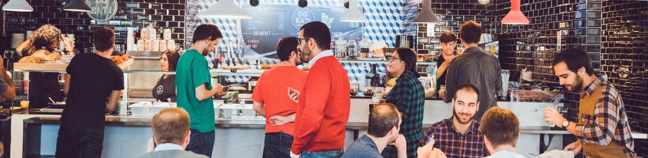 Cafetería de Google for Startups Madrid
